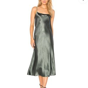 Vince Slip Maxi Dress in Frog - NWT!